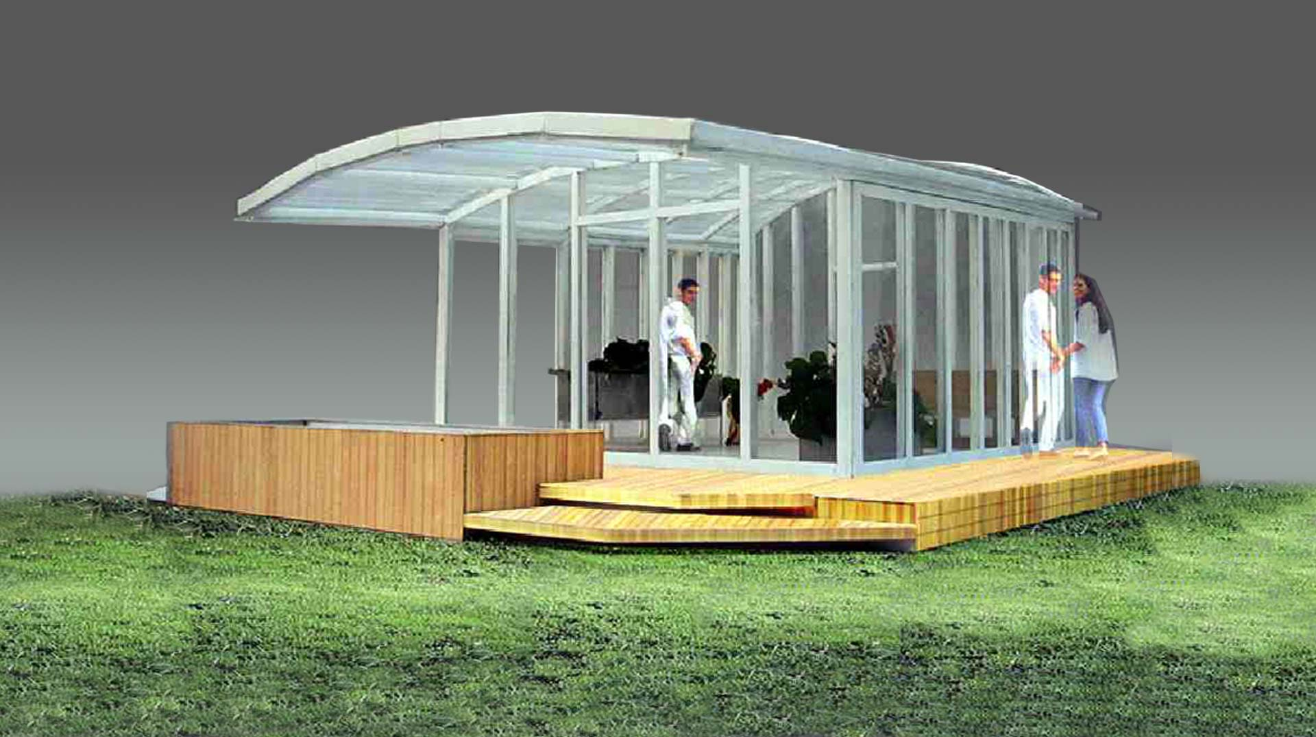 Competition: A contemporary conservatory. Awarded Third price