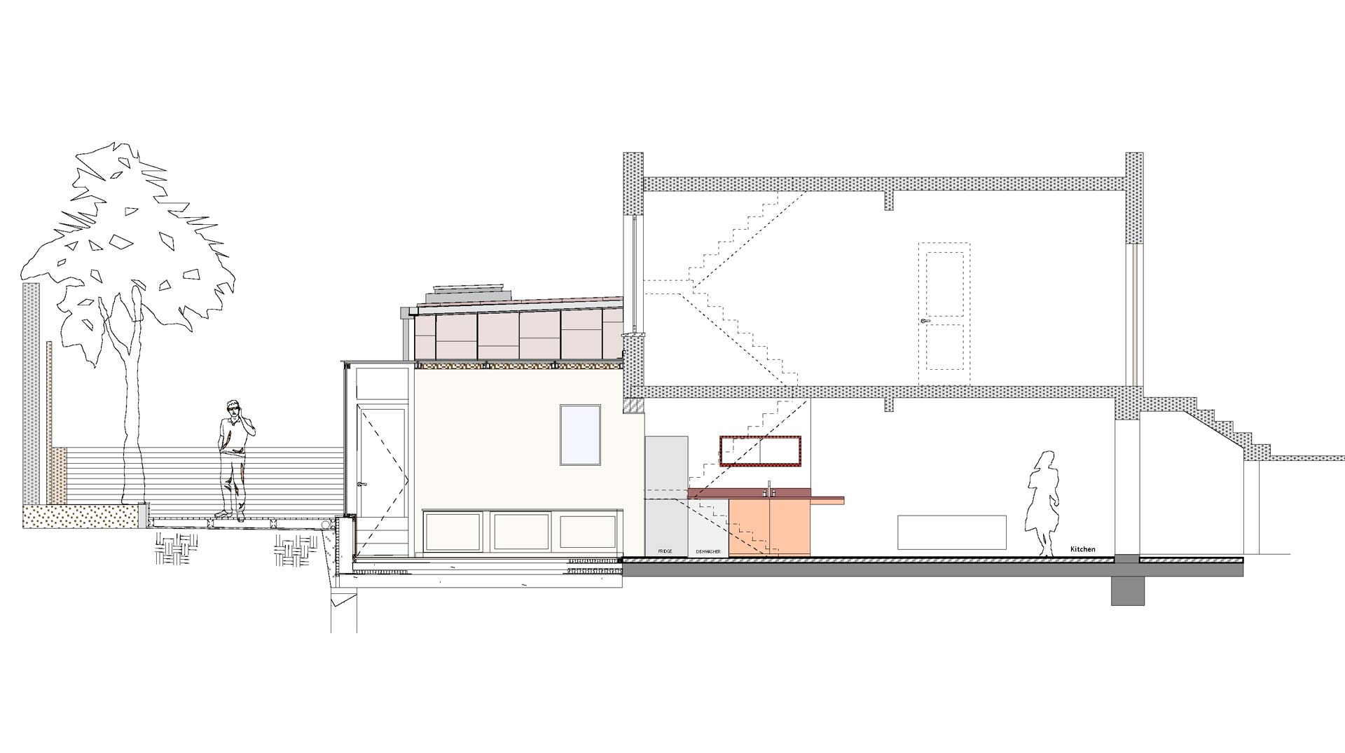 The extension of a terrace house in Wilton Square